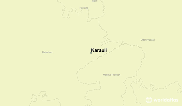 map showing the location of Karauli
