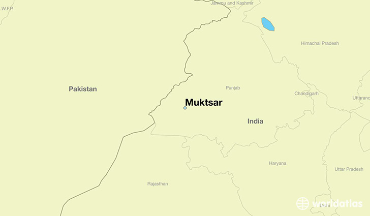 map showing the location of Muktsar