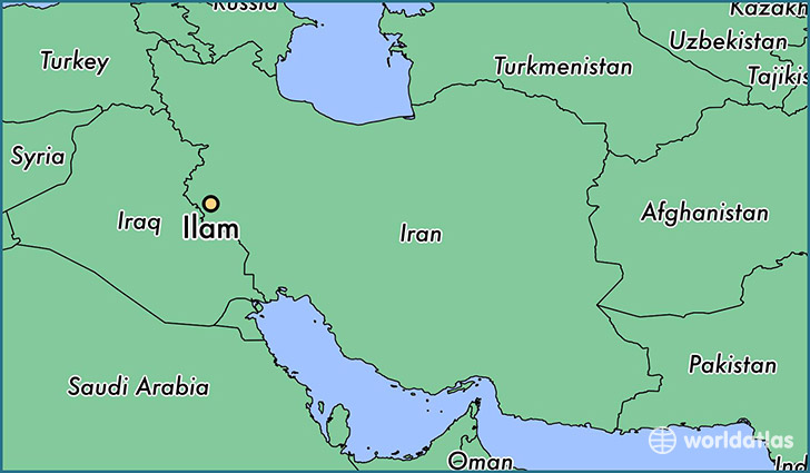 Where Is Ilam Iran Ilam Ilam Map WorldAtlascom - Ilam map