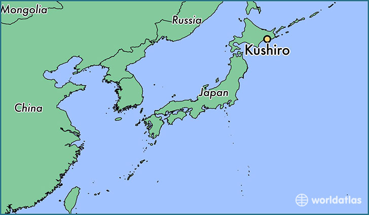 map showing the location of Kushiro