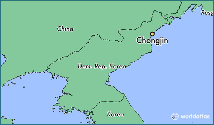map showing the location of Chongjin
