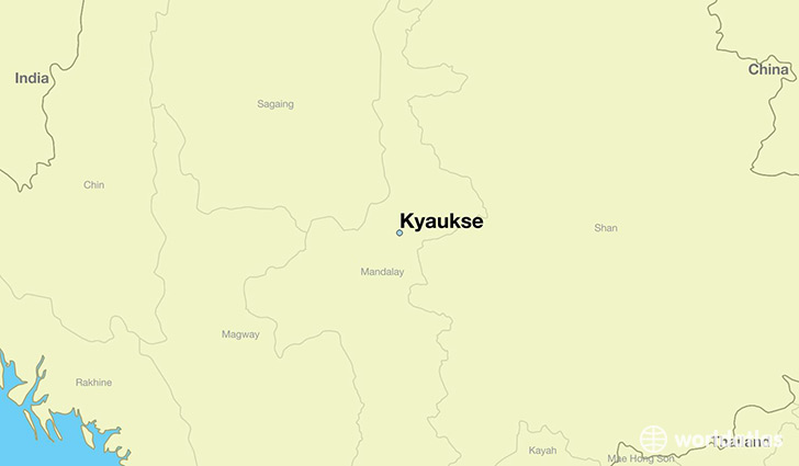 map showing the location of Kyaukse