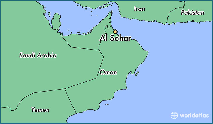 map showing the location of Al Sohar
