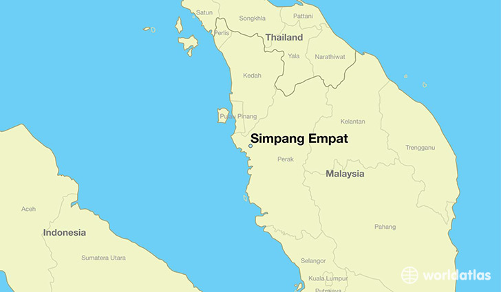 map showing the location of Simpang Empat