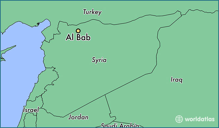 map showing the location of Al Bab