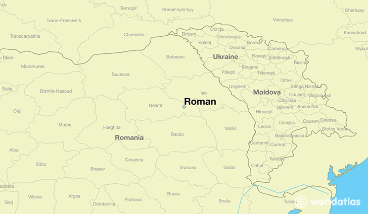 map showing the location of Roman