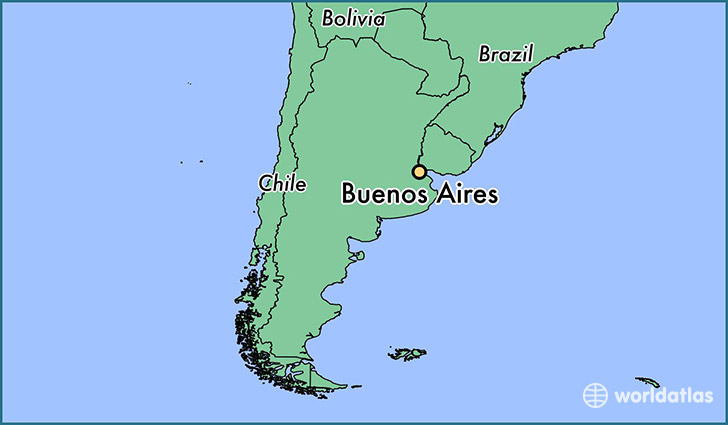 Where Is Buenos Aires Argentina Where Is Buenos Aires - Argentina map latitude