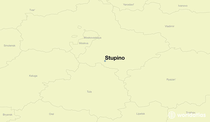 map showing the location of Stupino