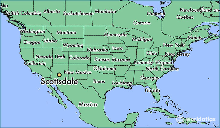 Where is Scottsdale AZ Scottsdale Arizona Map WorldAtlascom