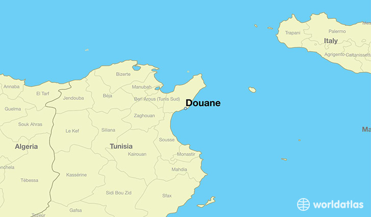 map showing the location of Douane