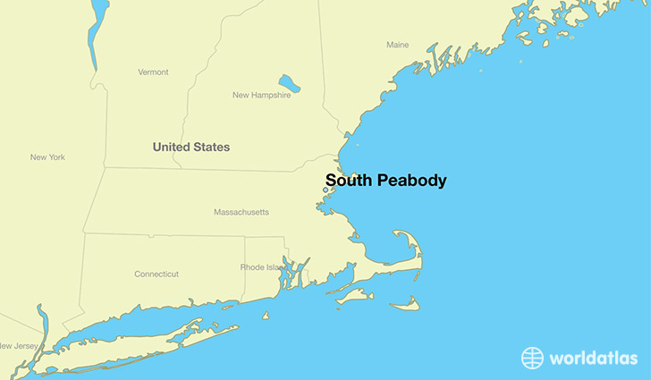 map showing the location of South Peabody