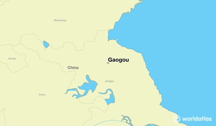 map showing the location of Gaogou