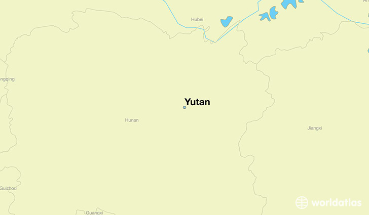 map showing the location of Yutan