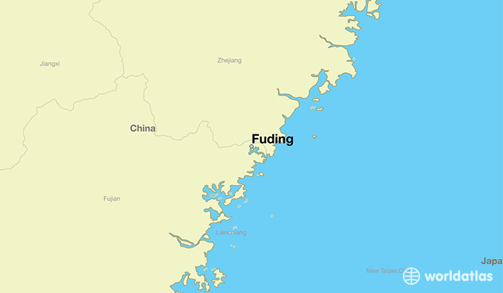 map showing the location of Fuding