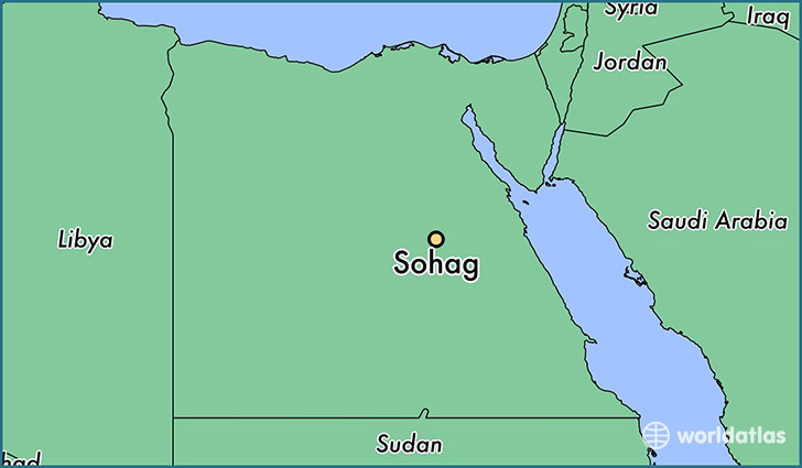 map showing the location of Sohag