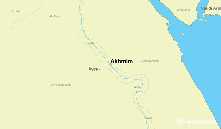 map showing the location of Akhmim