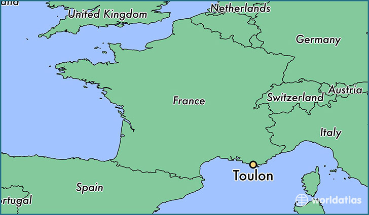 Where is Toulon France Toulon ProvenceAlpesCotedAzur Map