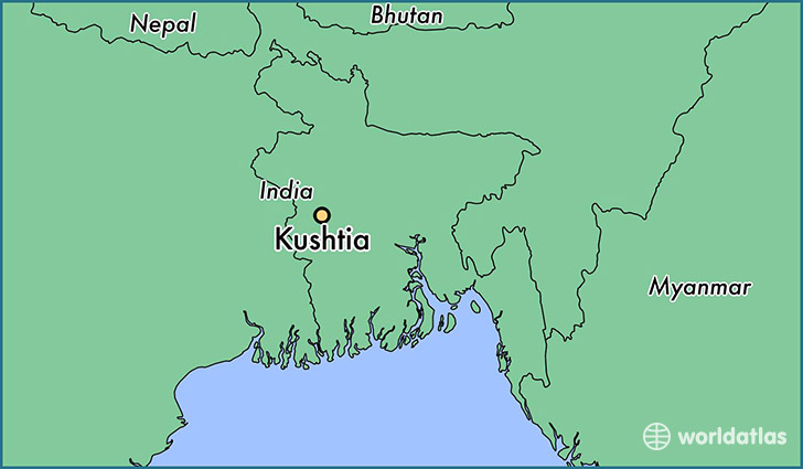 map showing the location of Kushtia