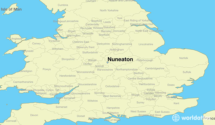 Map Of England Showing Leeds.Where Is Nuneaton England Nuneaton England Map