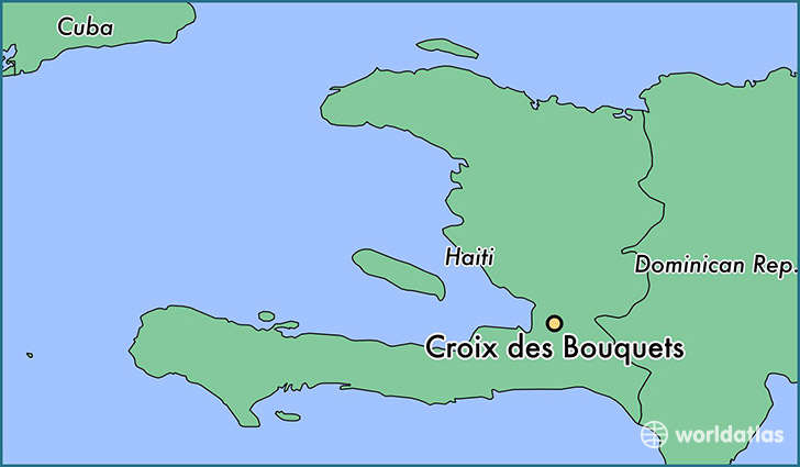 map showing the location of Croix des Bouquets