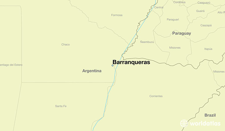 map showing the location of Barranqueras
