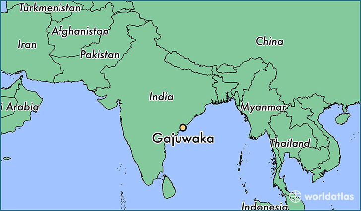 map showing the location of Gajuwaka
