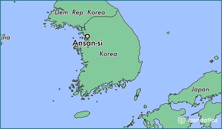 map showing the location of Ansan-si
