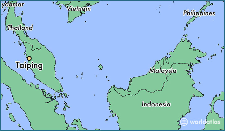 map showing the location of Taiping