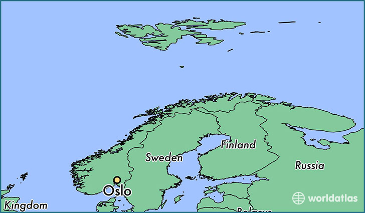 Where Is Oslo Norway Oslo Oslo Map WorldAtlascom - Where is norway