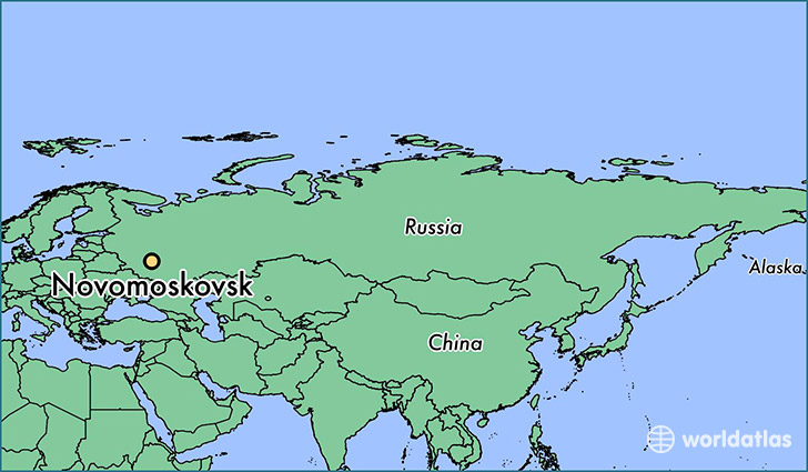 map showing the location of Novomoskovsk