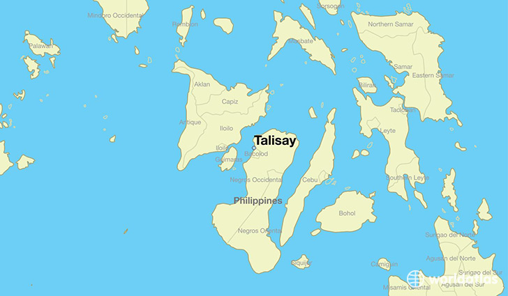 map showing the location of Talisay