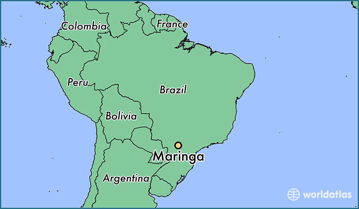 map showing the location of Maringa
