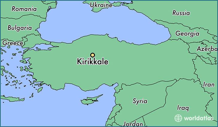 map showing the location of Kirikkale