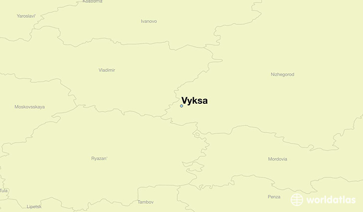 map showing the location of Vyksa