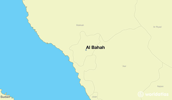 map showing the location of Al Bahah