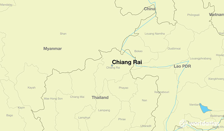 map showing the location of Chiang Rai