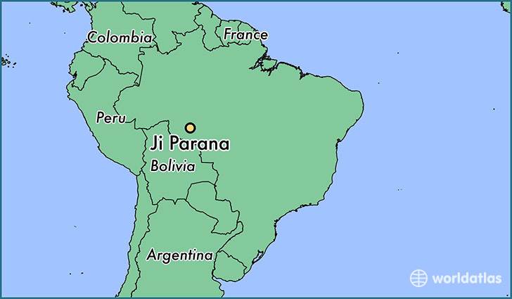 map showing the location of Ji Parana