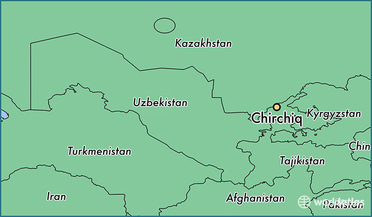 map showing the location of Chirchiq