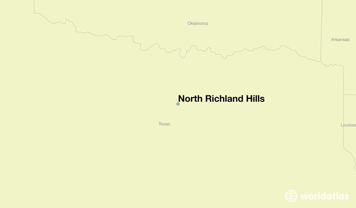 map showing the location of North Richland Hills