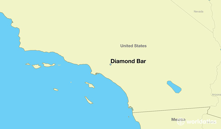 map showing the location of Diamond Bar