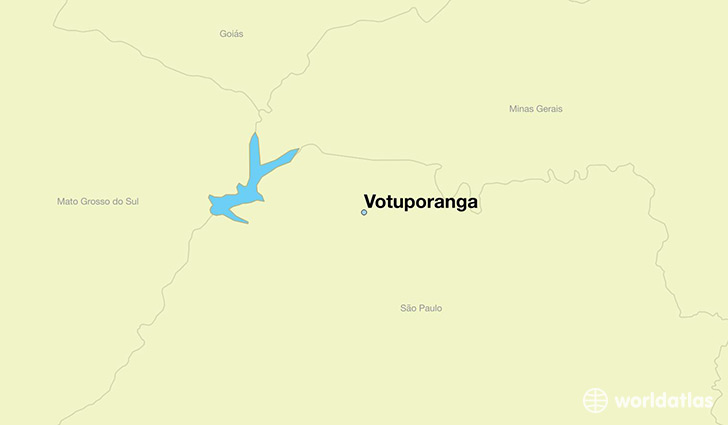 map showing the location of Votuporanga