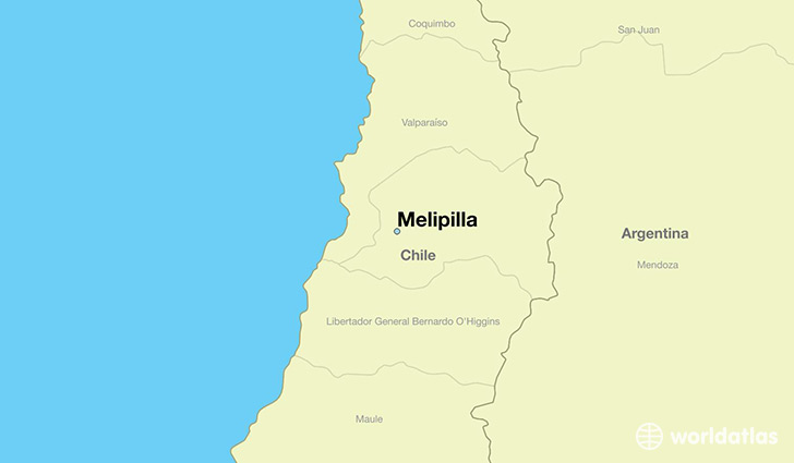 map showing the location of Melipilla