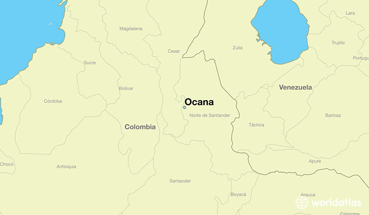 map showing the location of Ocana