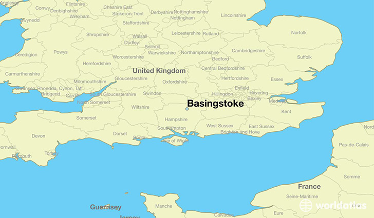 Where is basingstoke england basingstoke england map map showing the location of basingstoke gumiabroncs