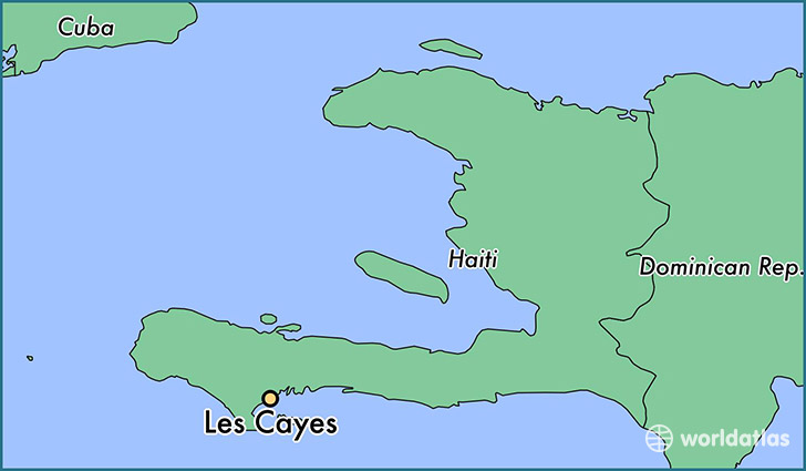 map showing the location of Les Cayes