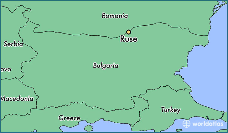 map showing the location of Ruse