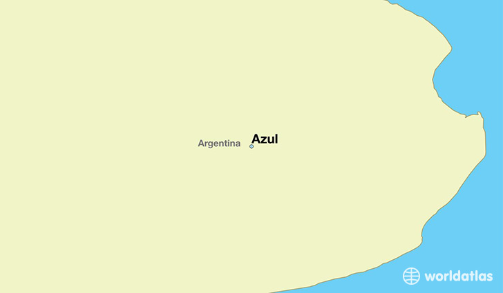 map showing the location of Azul