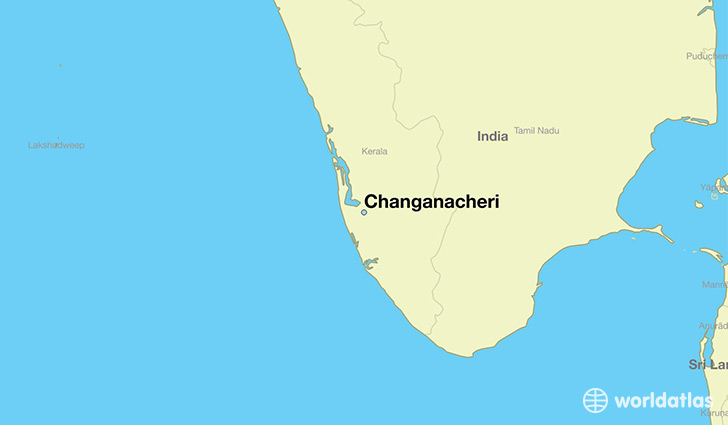 map showing the location of Changanacheri