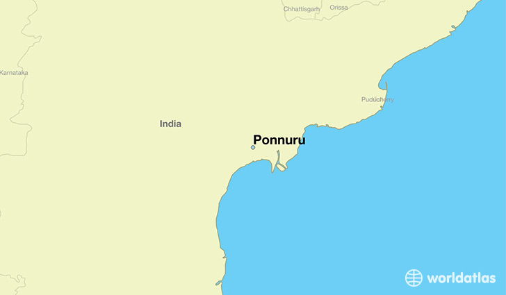 map showing the location of Ponnuru