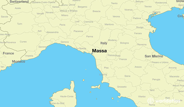 map showing the location of Massa